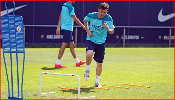 Messi entrenando FC Barcelona