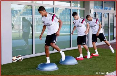 Bosu entrenamiento Real Madrid