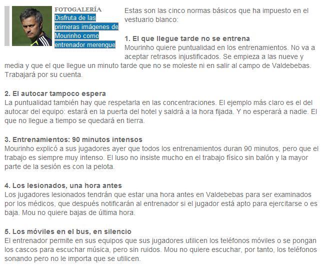 Método José Mourinho. Mou