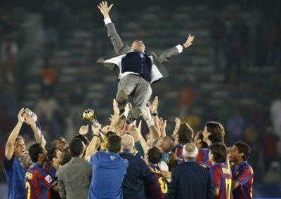 Guardiola Celebración Plantilla FC Barcelona