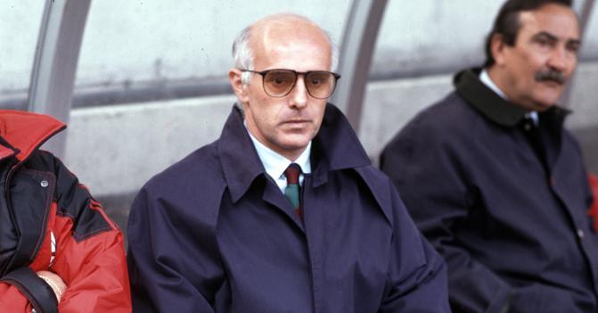 Arrigo Sacchi. Entrenador del AC Milán