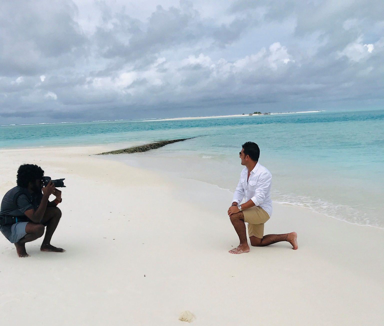 Sesión de fotos privada en islas Maldivas
