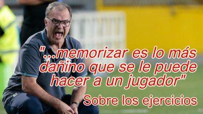 Marcelo Bielsa. Ejercicios de entrenamiento de Fútbol.
