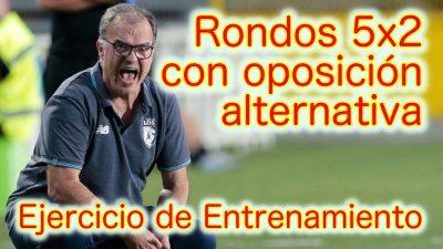 Rondos 5×2 con Oposición Alternativa. Ejercicio de Entrenamiento de Fútbol