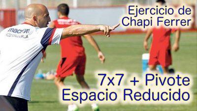 Ejercicio 7x7 + 1 Pivote. Dimensiones reducidas. RCD Mallorca 15/16 - Chapi Ferrer. Ejercicio de Entrenamiento de Fútbol