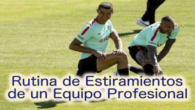 Flexibilidad. Vuelta a la Calma. Rutina de estiramientos de un equipo profesional. RCD Mallorca de Chapi Ferrer.