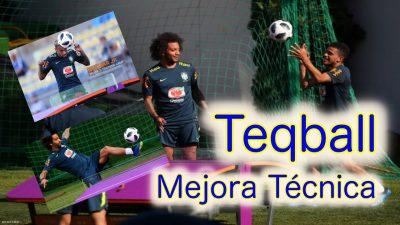 TeqBall. Mejora de la técnica individual. Ejercicio de entrenamiento de fútbol.