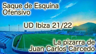 Saque de Esquina Ofensivo de Juan Carlos Carcedo en la UD Ibiza – 2ª División 21/22
